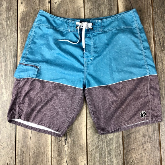 Ezekiel Other - Ezekiel Blue Gray Board Shorts Mens Size 36